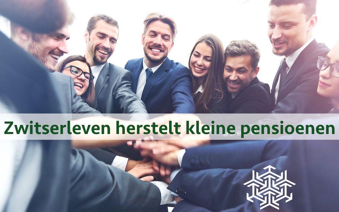 Zwitserleven herstelt kleine pensioenen