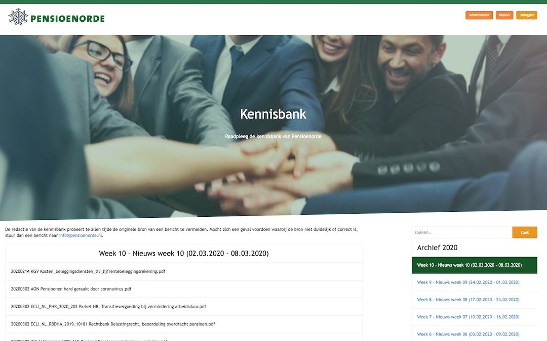 Leden Pensioenorde krijgen toegang tot kennisbank