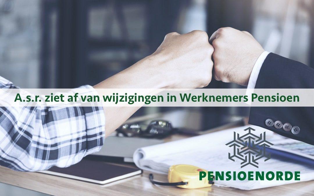 A.s.r. ziet af van wijzigingen in Werknemers Pensioen